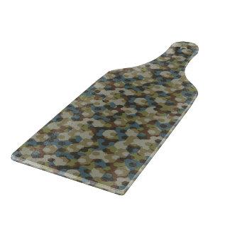 Khaki hexagon camouflage cutting board
