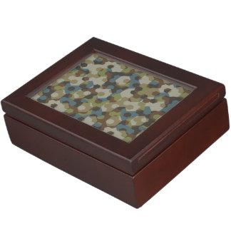 Khaki hexagon camouflage keepsake box