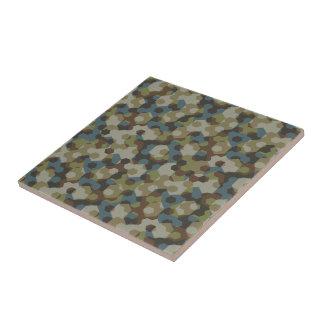 Khaki hexagon camouflage tile