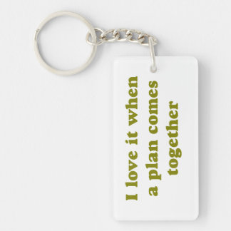 Khaki I Love It Single-Sided Rectangular Acrylic Keychain