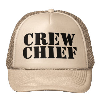 Khaki Military CREW CHIEF Trucker Cap 100813 Trucker Hat