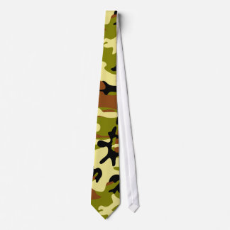 Khaki, Olive, Brown and Black Camouflage Necktie