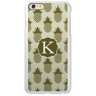 Khaki Pineapple Pattern   Add Your Initial