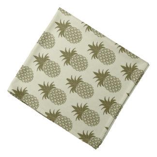 Khaki Pineapple Pattern Bandana