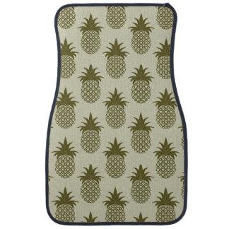 Khaki Pineapple Pattern Car Liners