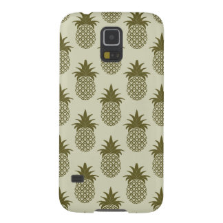 Khaki Pineapple Pattern Galaxy S5 Cases