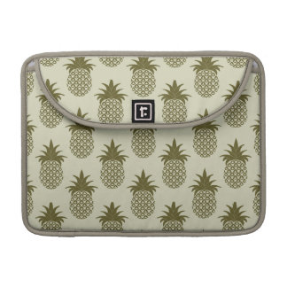 Khaki Pineapple Pattern Sleeves For MacBook Pro