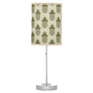 Khaki Pineapple Pattern Table Lamps