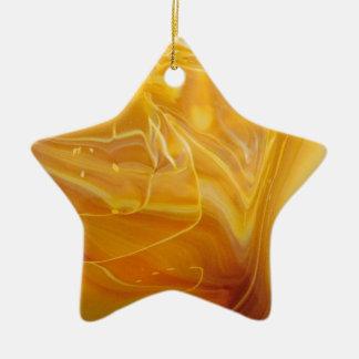 Khaki Swirl Ceramic Ornament