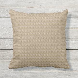 Khaki Weave Print Outdoor Pillow 16x16
