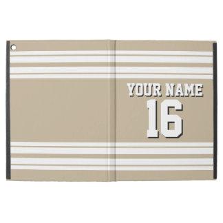 Khaki White Team Jersey Custom Number Name