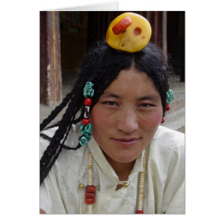 Kham Woman at Sera Monastery Greeting Card