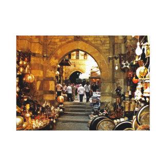 Khan al-khalili market canvas print