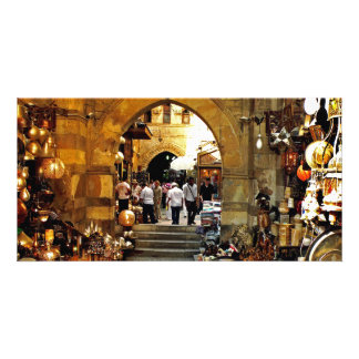 Khan al-khalili market personalized photo card