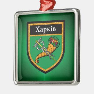 Kharkiv  Flag Metal Ornament