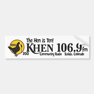 kHEN 10th Anniversary Bumper Sticker