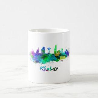 Khobar skyline in watercolor coffee mug