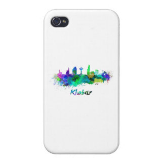 Khobar skyline in watercolor iPhone 4/4S cover