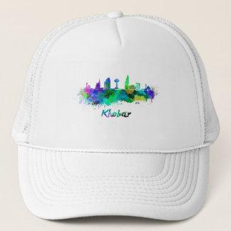 Khobar skyline in watercolor trucker hat