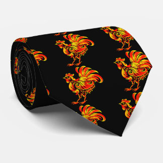 Khokhloma rooster tie