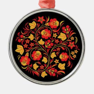 Khokhloma Russian Folk Art Christmas Ornament