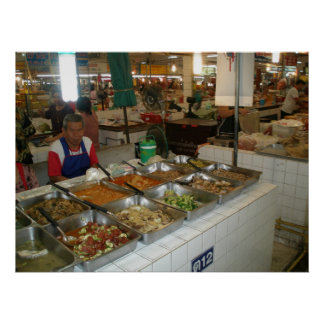 Khon Kaen Market Vendor Print