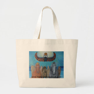 Khonsu and Re lead the Horses of the King. Tote Bags