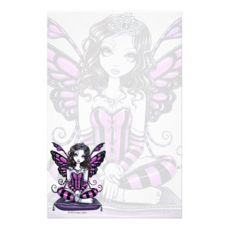 """Khristyn"" Gothic Pink Princess Fae Art Stationery"