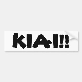 KIAI!! BUMPER STICKER