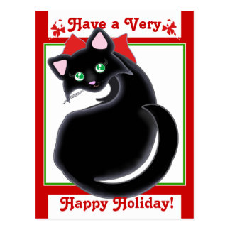 Kiara Toon Kitty Holiday! Postcard