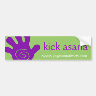kick asana bumper sticker