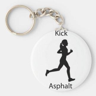 Kick asphalt basic round button keychain