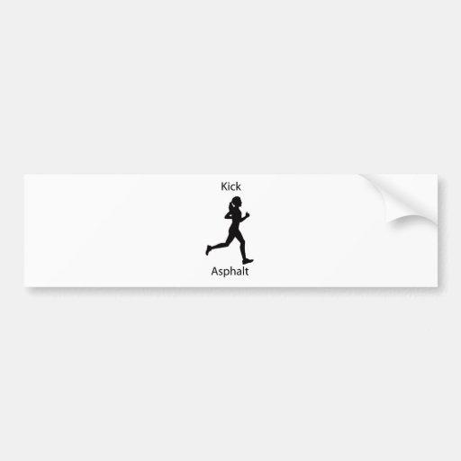 Kick asphalt bumper sticker
