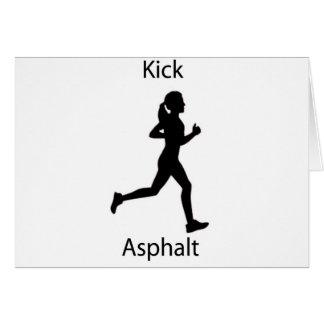 Kick asphalt card