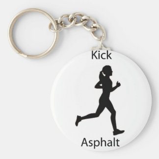 Kick asphalt key chains