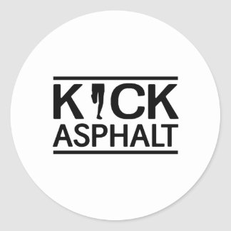 Kick Asphalt Round Sticker