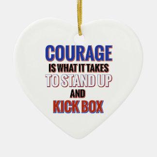 KICK BOX DESIGN CERAMIC HEART ORNAMENT