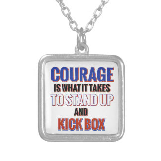 KICK BOX DESIGN SILVER PLATED NECKLACE