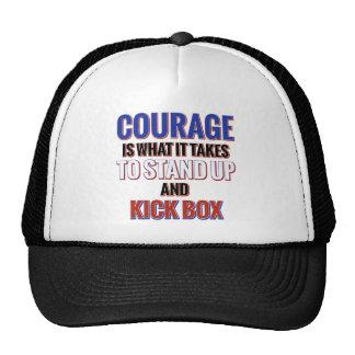 KICK BOX DESIGN TRUCKER HAT