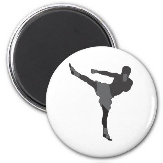 Kick Boxer 2 Inch Round Magnet