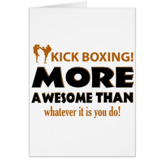 KICK BOXING! DESIGN CARD