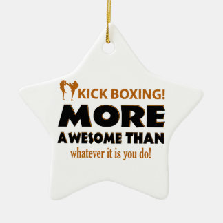 KICK BOXING! DESIGN CERAMIC STAR ORNAMENT