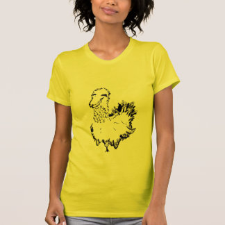kick chicken in canary yellow T-Shirt