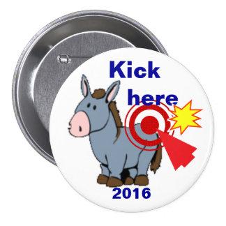 Kick here 2016 3 inch round button