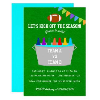 Kick off the season Football Match Party Invite