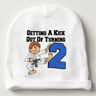 Kick Out Of Turning Two Baby Beanie