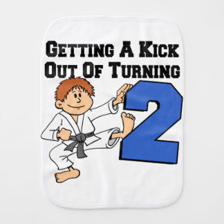 Kick Out Of Turning Two Burp Cloth