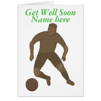 Kick That Ball, Get Well, add name front Card