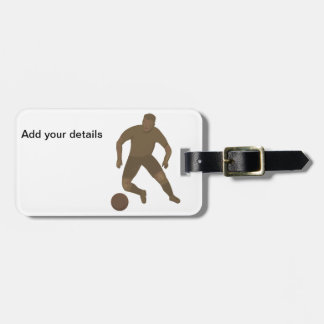 Kick That Ball Luggage Tags