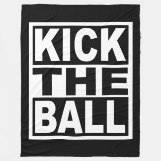 Kick the Ball Fleece Blanket